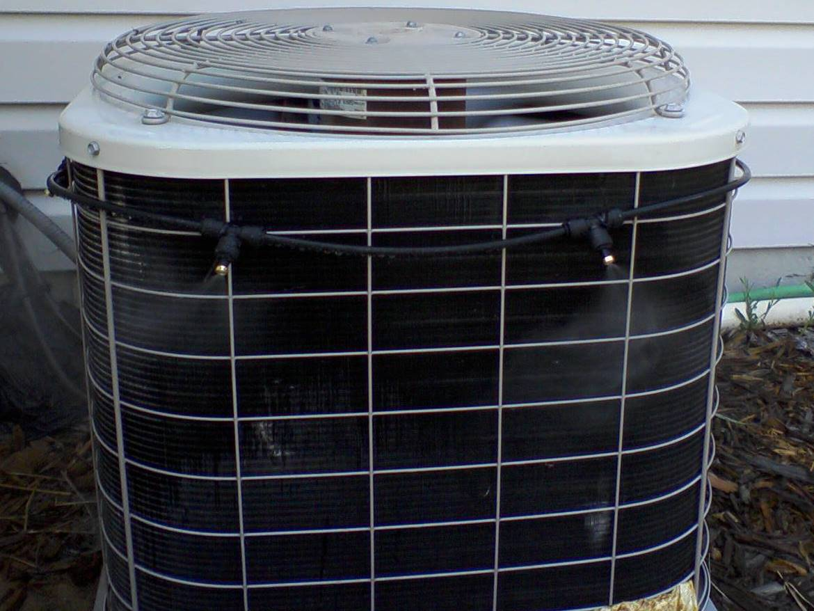 Ac Misting System : Automatic ac misting system installed and working solar